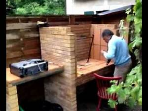 Barbecue En Dur : construire un barbecue youtube ~ Melissatoandfro.com Idées de Décoration