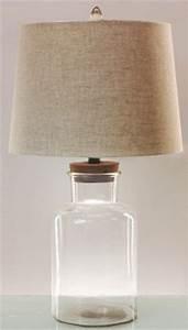 Amusing pottery barn glass fillable lamp glass lamp square for Glass jar floor lamp