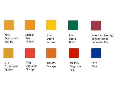 massey tractor paint colors chart pictures to pin on