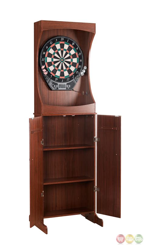 darts outlaw  standing dart cabinet set