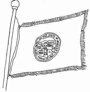 Nebraska State Flag Coloring Page Color Luna