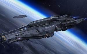 space, Ship, Planet, Futuristic, Science fiction HD ...