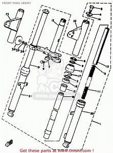 Yamaha Lb50pj Chappy 1980-1982 Front Fork Lb50pj