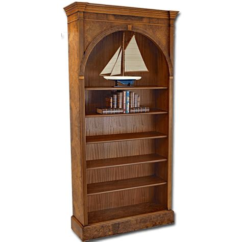 Arch Bookcase by Burr Walnut Arched Bookcases