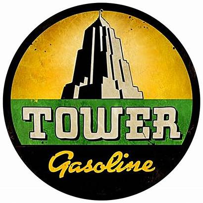 Metal Gas Gasoline Tower Signs Heavy Oil