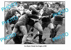 LARGE PHOTO, RUGBY LEAGUE GREAT LES BOYD, MANLY SEA EAGLES ...