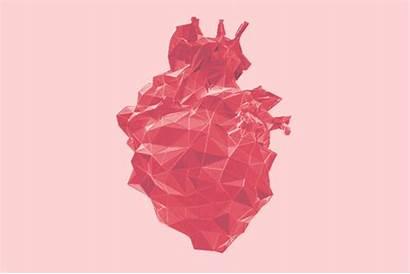 Heart Geometric Heartbeat Geo Cool Surreal Abstract