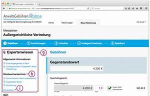 Anwaltsgebühren Berechnen : anwaltsgeb hren online anwaltshonorare in 3 einfachen ~ Themetempest.com Abrechnung