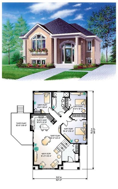 One-Story Style House Plan 65350 with 3 Bed, 1 Bath ...