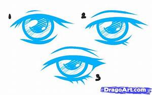 Draw Female Anime Eyes, Step by Step, Drawing Sheets ...