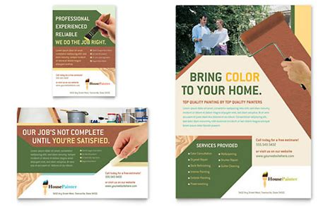 painter painting contractor brochure template word
