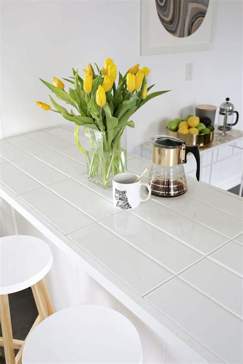 Ideas For Kitchen Countertops And Backsplashes - hot décor trend 24 tile kitchen countertops digsdigs