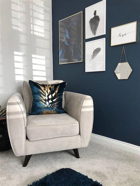 lisas beautiful stiffkey blue feature wall adds  subtle