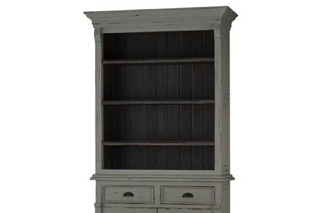 Cheap Narrow Bookcase by Bramble 25760 Rustic Grey Hudson Narrow Bookcase Solid