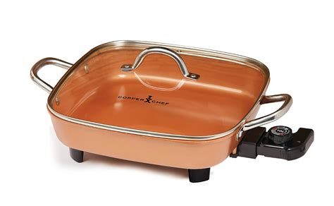 electric skillet  copper chef deluxe  xl  stick frying buffet server ebay