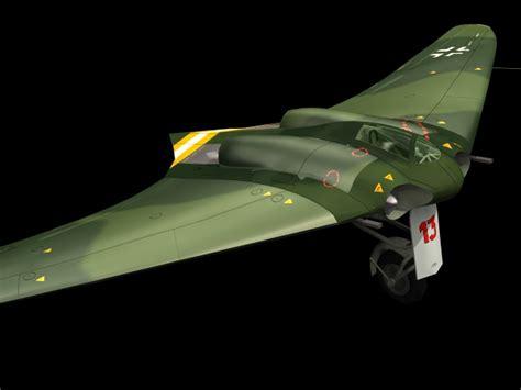 horten ho  fighter bomber  model dsmax files