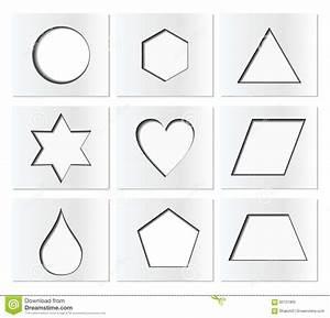 Geometrische Formen Berechnen : schablone f r einfache geometrische formen mit innerem schatten kreis hexagon dreieck stern ~ Themetempest.com Abrechnung