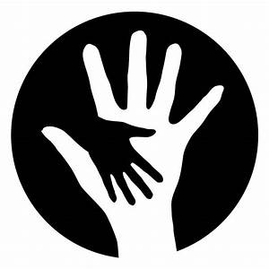 Hand Silhouette | Mother And Daughter Holding ...