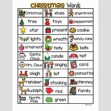 Christmas Vocabulary List 32 Words And Pictures Free By