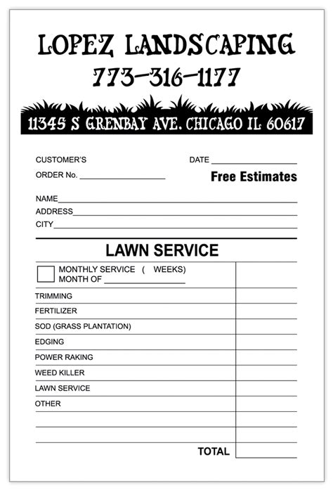 landscaping invoice template word invoice