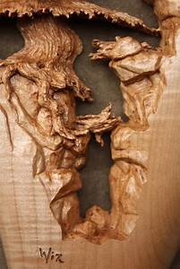 """Deep Ravine"" a pierced relief wood carving by Gary ""Wiz"