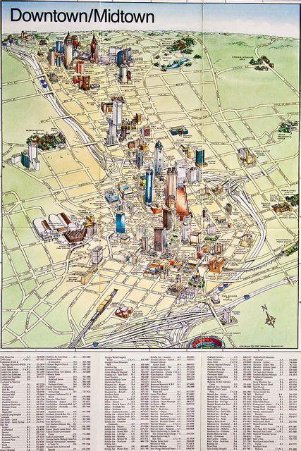 atlanta pictorial maps illustrated map map design