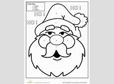 Color by Number Santa Worksheet Educationcom