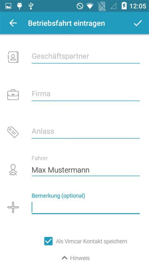 fahrtenbuch app android vimcar fahrtenbuch android apps on play