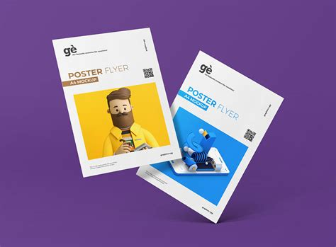 The biggest source of free photorealistic magazine mockups online! Free A4 Poster Flyer Mockup | Mockuptree