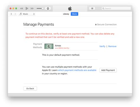Apple sends an email to the new address. cant add credit card to apple account - Apple Community