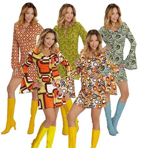 70 er jahre kleidung top damen hippie retro kost 252 m 60er 70er jahre pop disco kleid groovy minikleid ebay