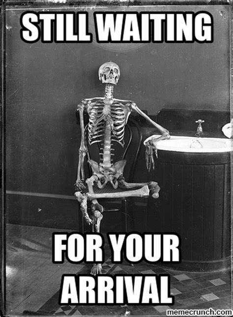 Still Waiting Meme - skeleton waiting on computer related keywords skeleton waiting on computer long tail keywords