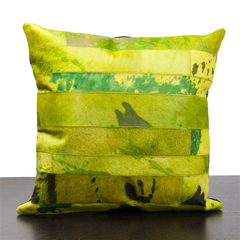 Cowhide Pillows For Sale by Green Cow Hide Pillow Inc Pillows Touch Of Modern