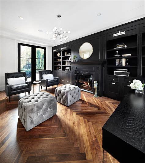 Black Built Ins  Contemporary  Denlibraryoffice The