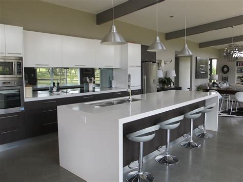 modern kitchen island bench lovely the island and lights above contemporary