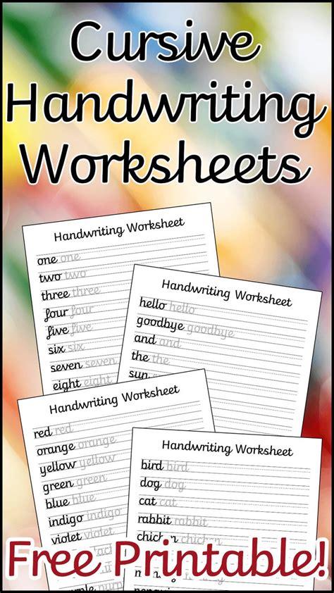 cursive handwriting worksheets  printable learn