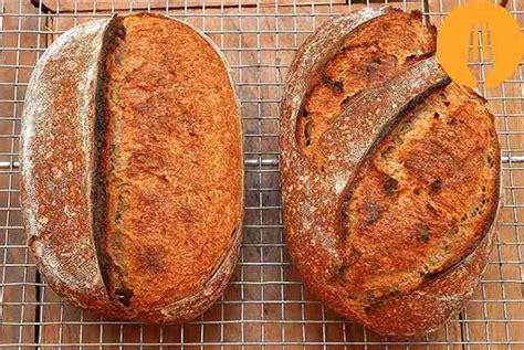 receta de pan de centeno y trigo con masa madre