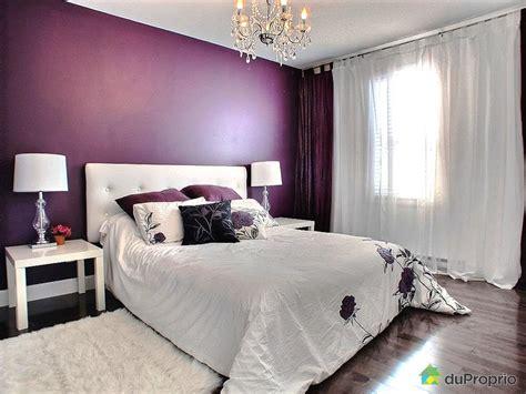 d馗orations chambre idée décoration chambre adulte violet