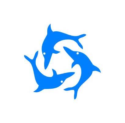 Dolphin Dolphins Clipart Clip Jumping Cartoon Vector
