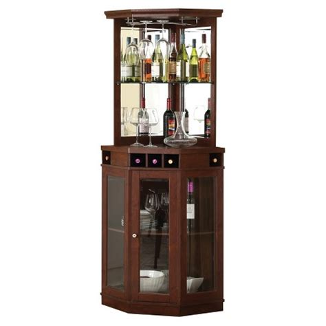 mahogany wine cabinet corner bar unit mahogany home source target 3972