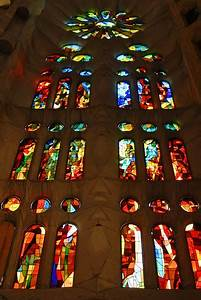 Spain - Barcelona - Sagrada Familia - Stained Glass 01 ...