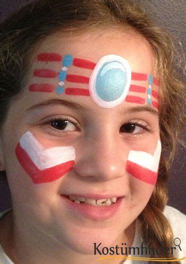 anleitung indianer schminken indianerin schminken schritt 4 karneval kost 252 me schminke indianer schminken indianer