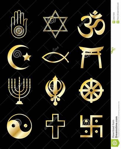 Symbols Gold Religious