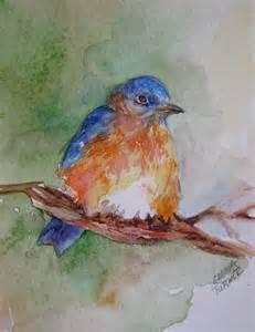 Baby Blue Bird Painting
