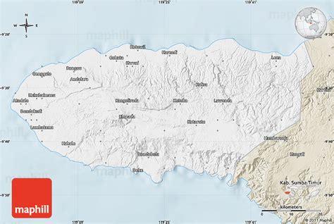 classic style map  kab sumba barat