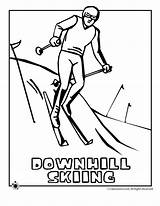 Skiing Coloring Downhill Pages Print Clipart Woo Jr Activities Library Popular Line sketch template