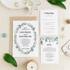 greenery wedding invitation template o printable wedding With greenery wedding invitations free