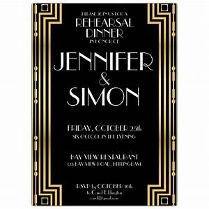 gatsby gold rehearsal dinner invitations paperstyle With the great gatsby invitation template