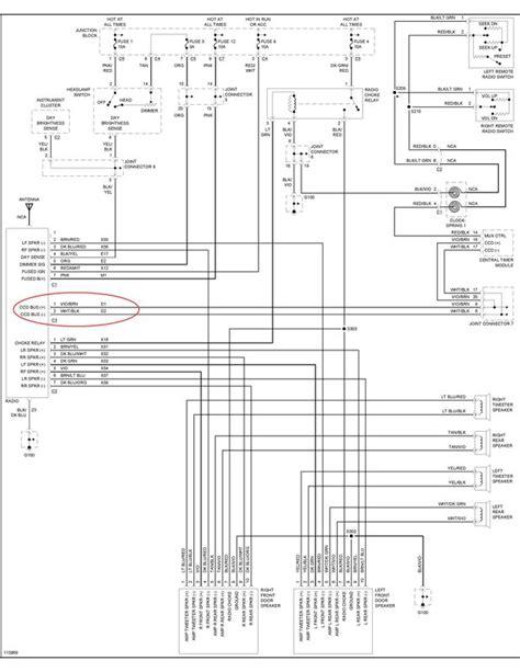 Dodge Grand Caravan Radio Wiring Diagram For