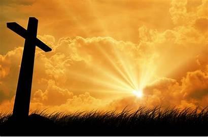 Cross Christian Backgrounds Worship Church Powerful Lord